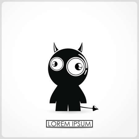cartoon devil: cartoon devil isolated on white  vector
