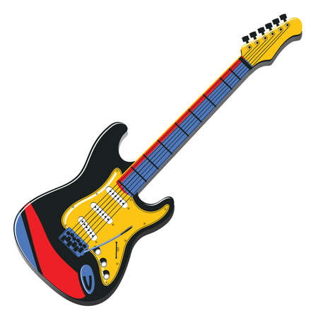 Guitar isolated on white Vector