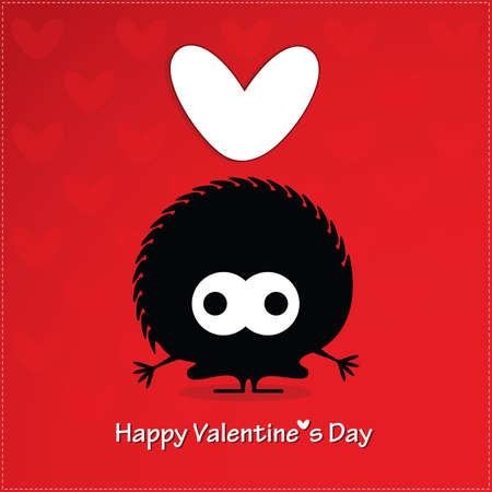 Cute monster with heart Stock Vector - 22204025