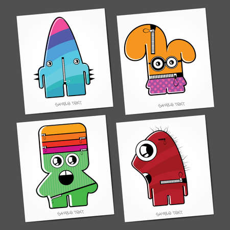 Monsters - vector set Stock Vector - 22377026