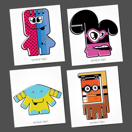 Monsters - vector set Stock Vector - 22377146