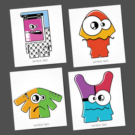 Monsters - vector set Stock Vector - 22377161