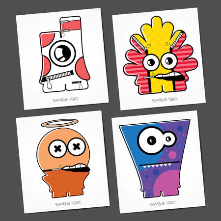 Monsters - vector set Stock Vector - 22377377