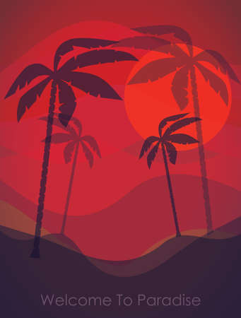 Tropical resort  vector illustration Vector