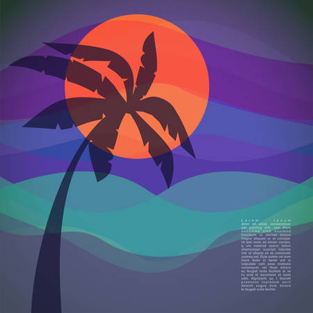 Tropical resort  vector illustration Vector