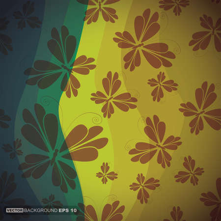 Decorative background with butterfly Vector
