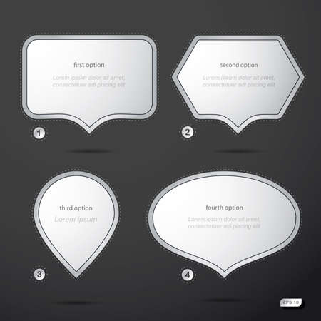 Set of four speech bubbles  Vector Vector