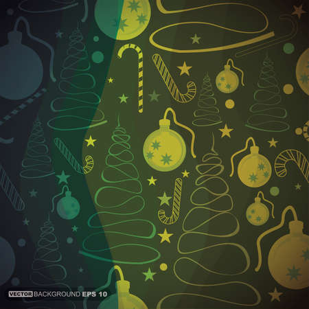 Decorative card with New Year elements Vector