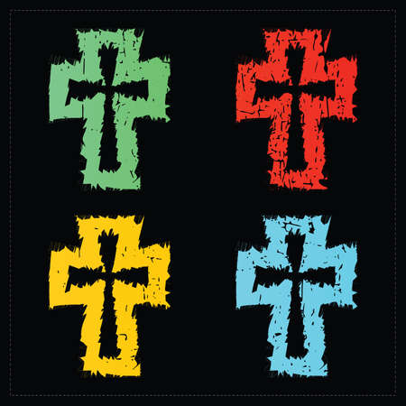 Set of four crosses Stock Vector - 22736876