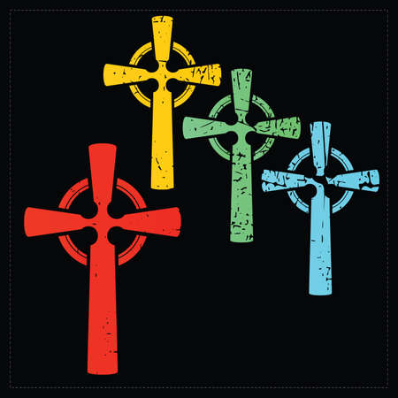 Set of four crosses   Vector
