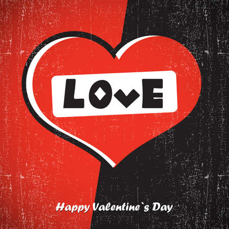 amur: Valentine s day card with heart Illustration