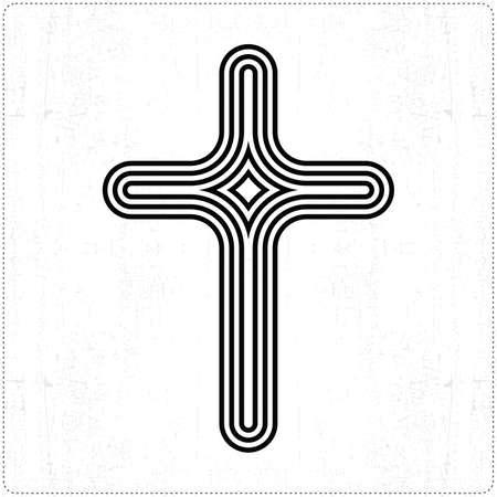Black cross Vector