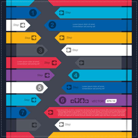 Infographics options banner with arrows Stock Vector - 23498218
