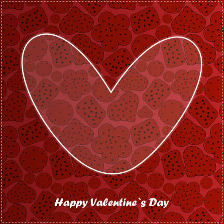 Valentine s day card with cookies Vector