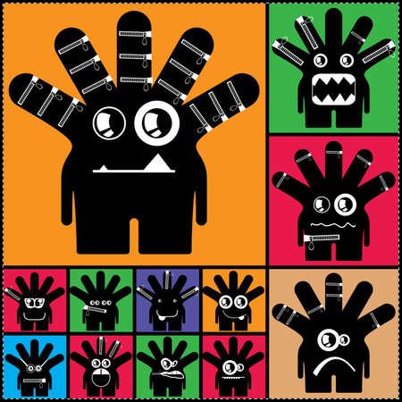 Set of cute monsters  vector Stock Vector - 24739429