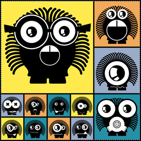 Set of cute monsters  vector Stock Vector - 24739485