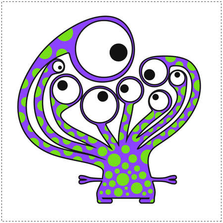 Cute monster isolated on white Vector