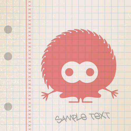 Monster on old paper Stock Vector - 25085216