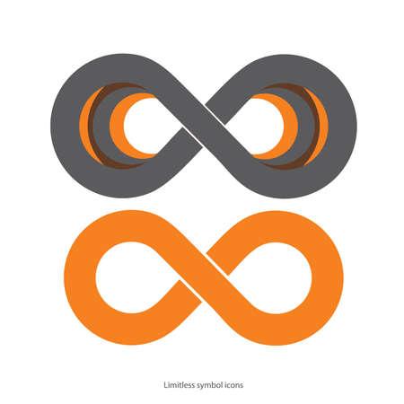 infinito simbolo: Set di icone illimitate Vettoriali
