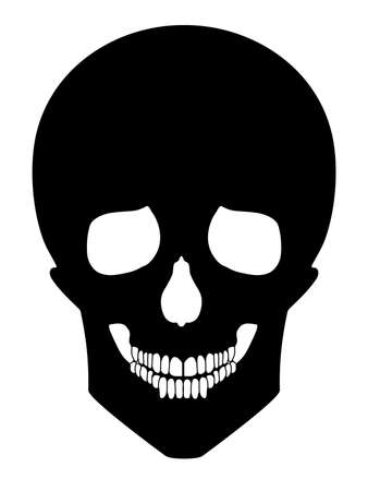 mort: black skull Illustration
