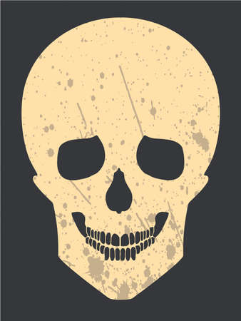 mort: Yellow skull Illustration