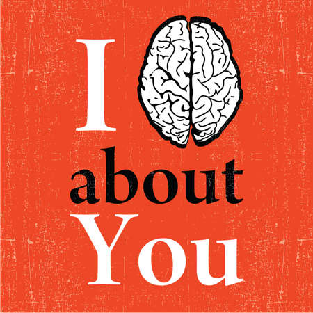 about you: Valentine s day card  I think about you
