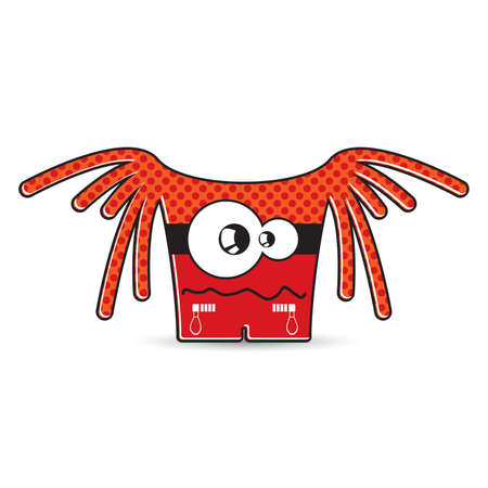 kindly: Colorful monster on white background
