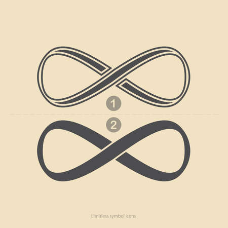 infinity symbol: Set of limitless icons