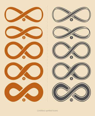 signo infinito: Conjunto de iconos ilimitadas
