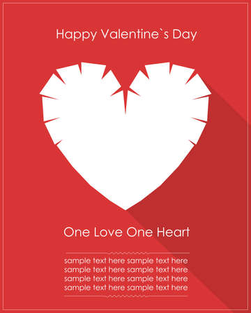 Valentine s day card with heart Vector
