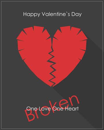 broken love: Broken heart