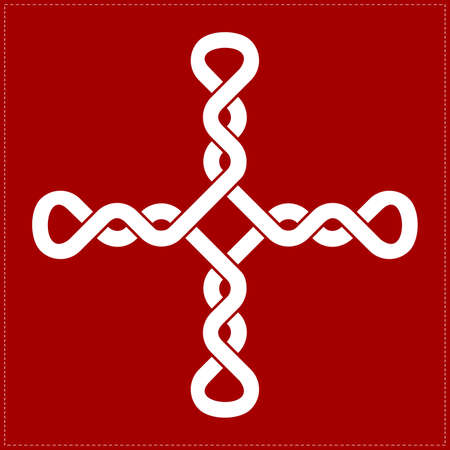 Cross on red background Vector