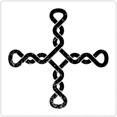 Cross on white background Vector