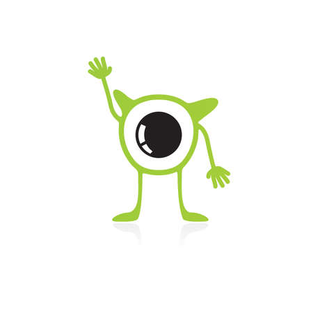 Cute monster isolated on white  vector Stock Vector - 26425162
