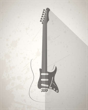 electric guitar: Guitar on grunge background