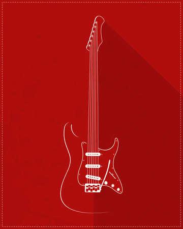 fret: Guitar on grunge background