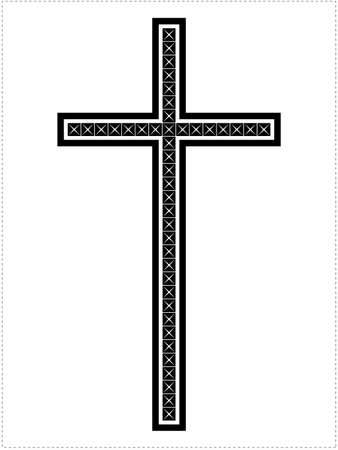 simbolos religiosos: Cruz aislado en blanco
