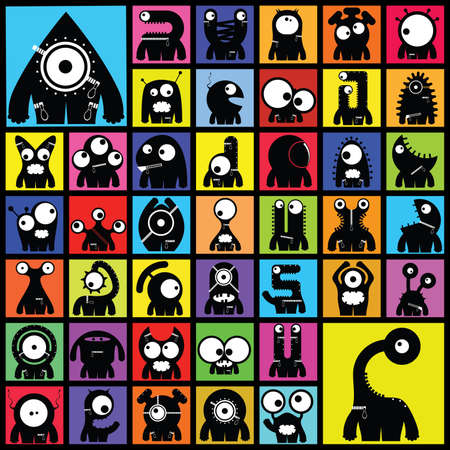 Set of cute monsters Stock Vector - 27137802