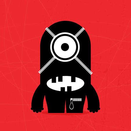 kindly: Monster on grunge background