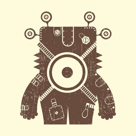 Monster on beige background Vector