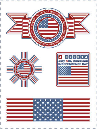 Independence Day - 4 of July - Vector set of design elements Vector
