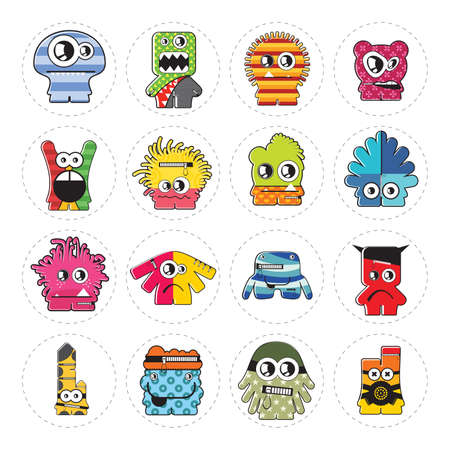 Monsters - vector set Vector