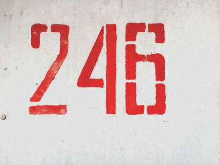 metallic: Number 246 on metallic grunge wall
