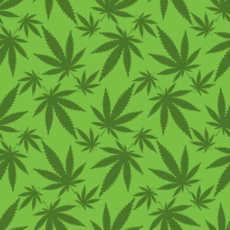 Cannabis leafs - seamless pattern