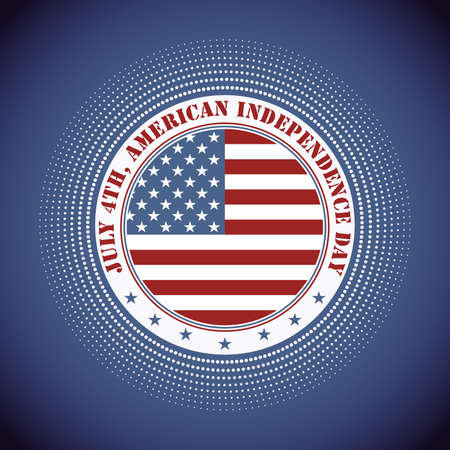 Independence Day of America Vector