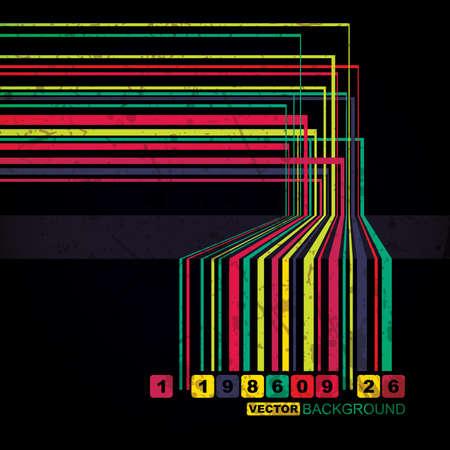 Retro grunge barcode background - vector Vector