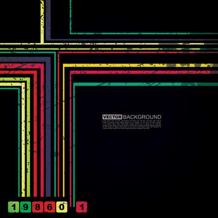 Retro grunge background - vector Vector