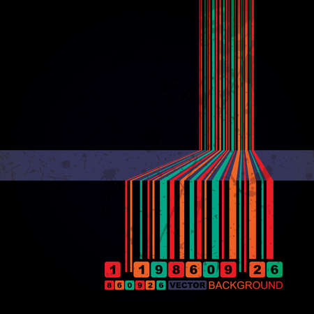 Retro grunge barcode background - vector Vector