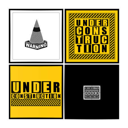 Set of four under construction illustration  Vector set Stock Vector - 29616202