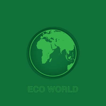 Eco world on green background Illustration